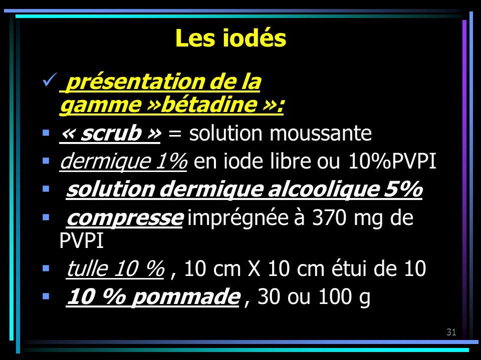 Les iodés présentation de la gamme »bétadine »:
