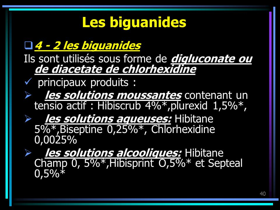 Les biguanides 4 - 2 les biguanides