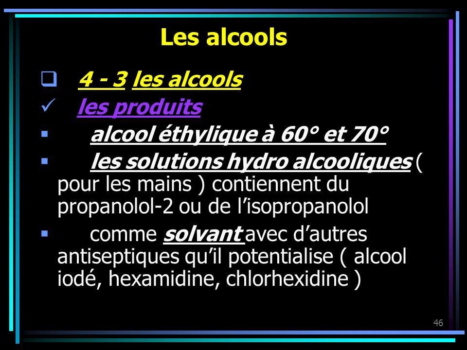 Les alcools 4 - 3 les alcools les produits