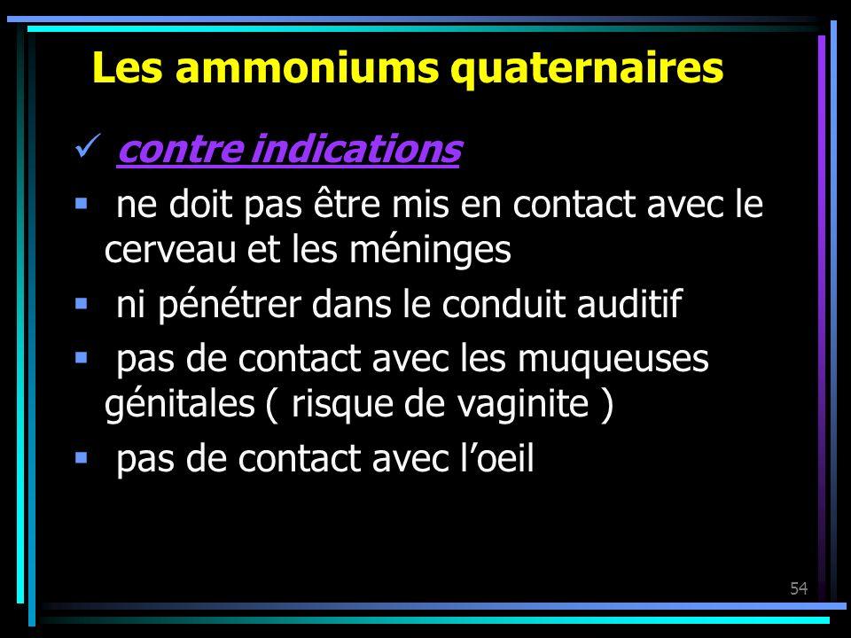 Les ammoniums quaternaires