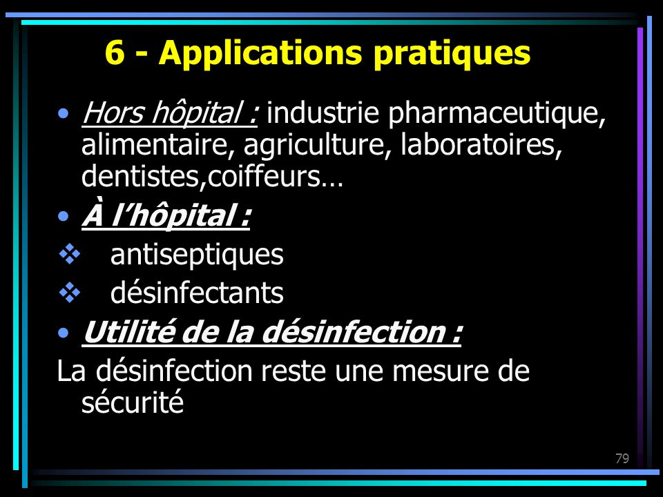 6 - Applications pratiques