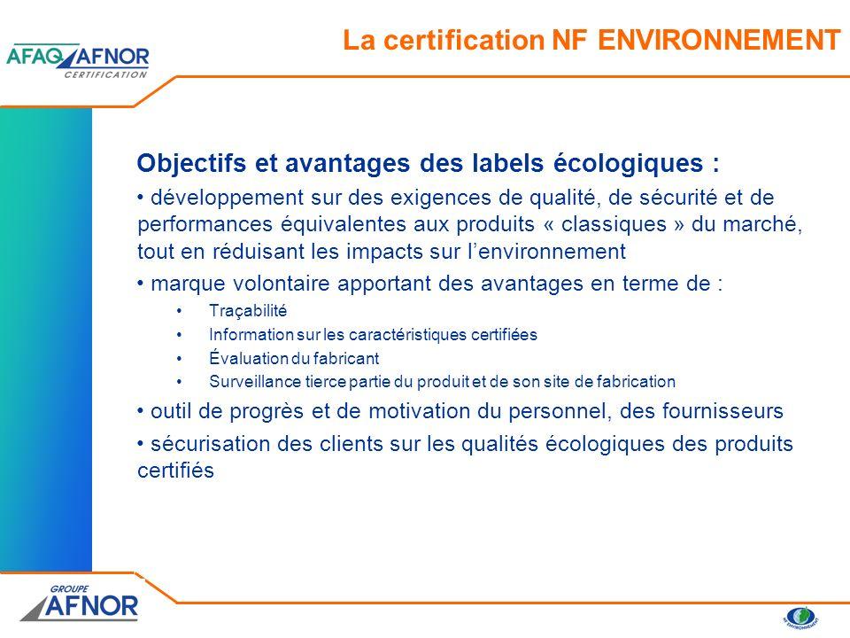 La certification NF ENVIRONNEMENT