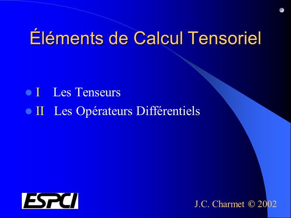 Éléments de Calcul Tensoriel