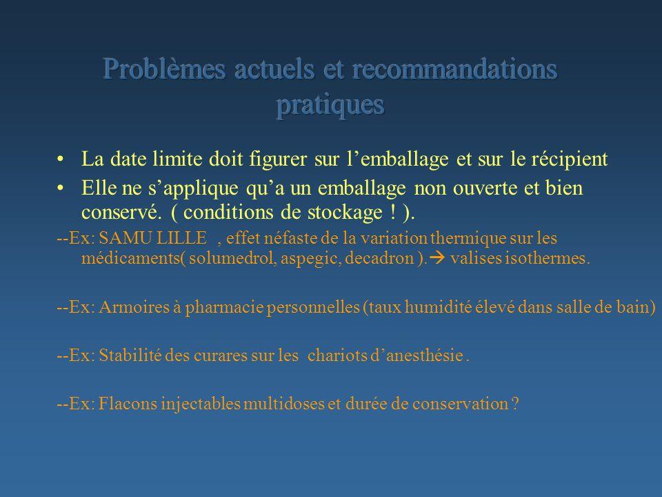 Problèmes actuels et recommandations pratiques
