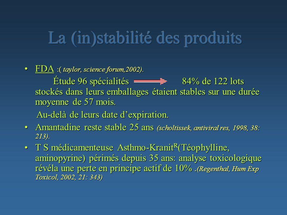 La (in)stabilité des produits