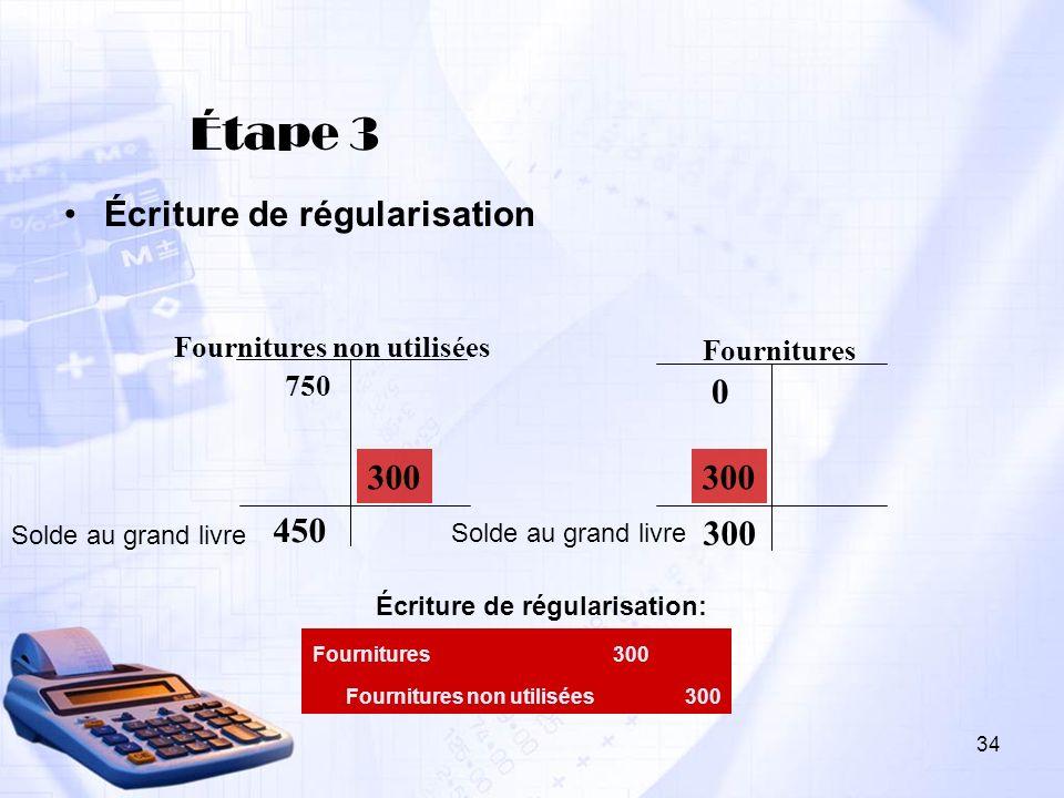 Étape 3 Écriture de régularisation 300 300 450 300