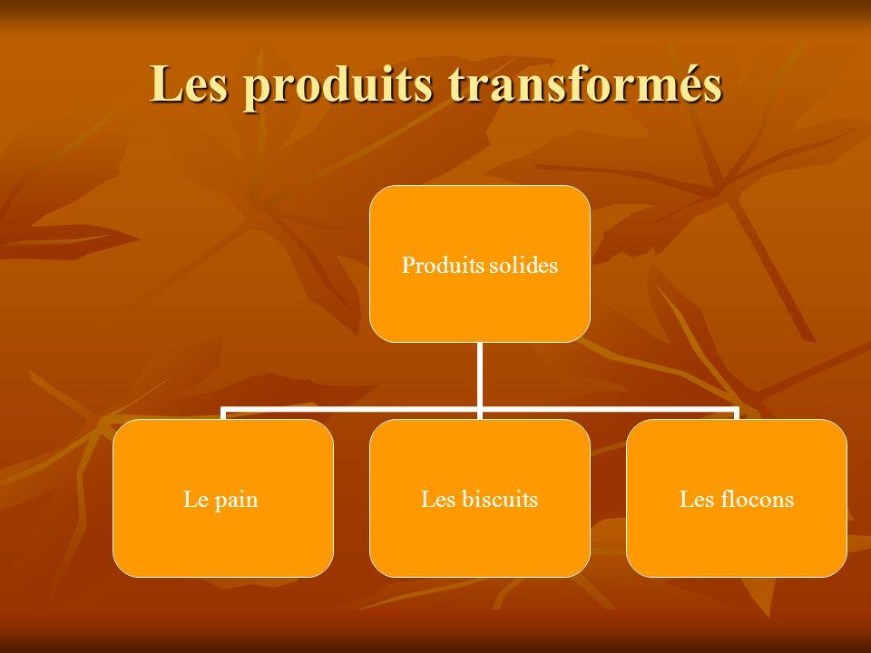 Les produits transformés
