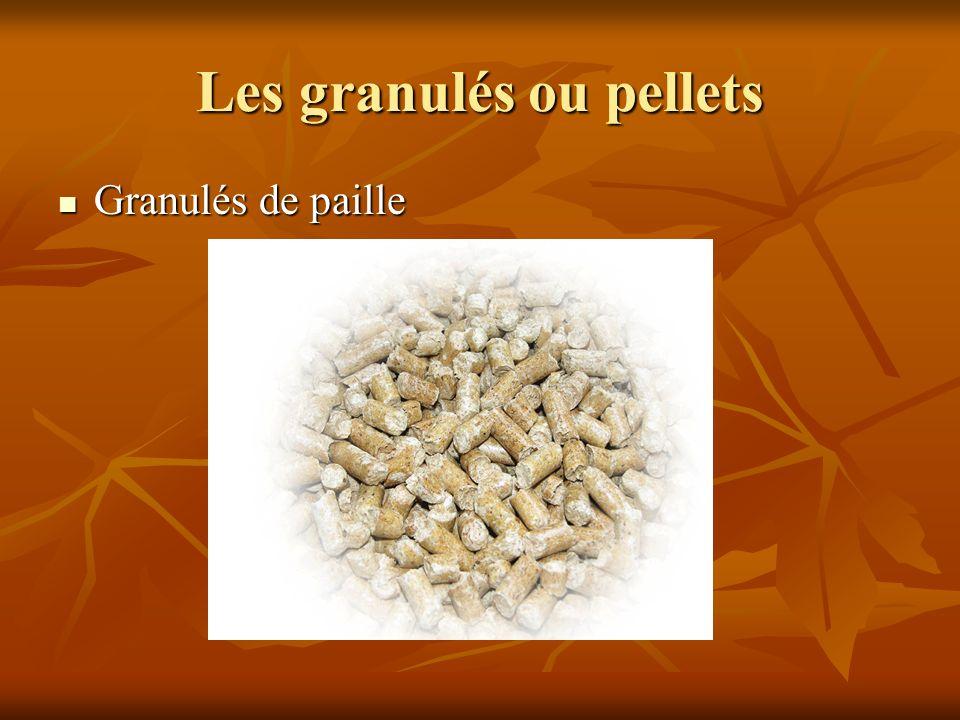 Les granulés ou pellets
