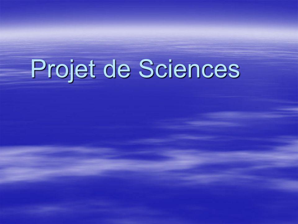 Projet de Sciences