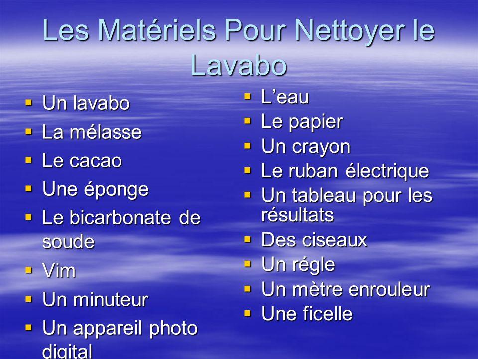 Les Matériels Pour Nettoyer le Lavabo