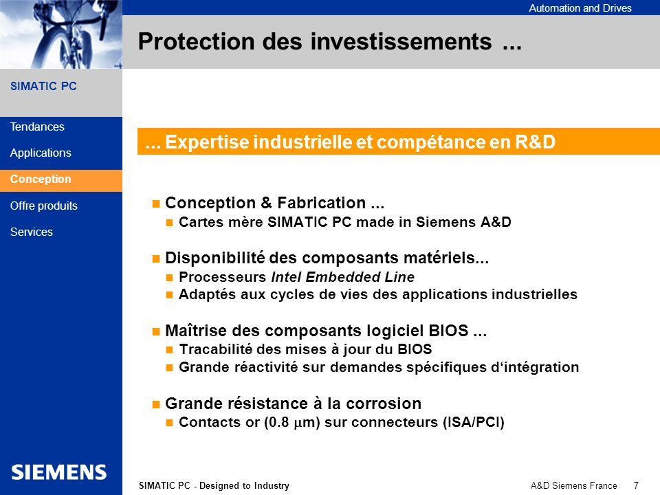 Protection des investissements ...