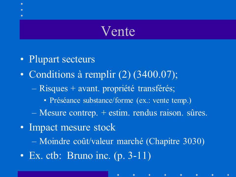 Vente Plupart secteurs Conditions à remplir (2) (3400.07);