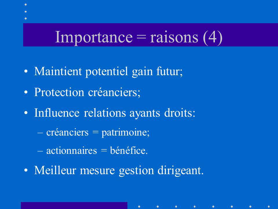 Importance = raisons (4)