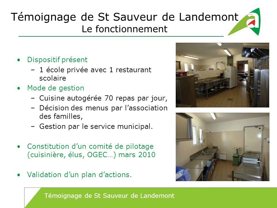 Témoignage de St Sauveur de Landemont Le fonctionnement