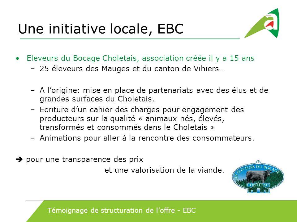 Une initiative locale, EBC