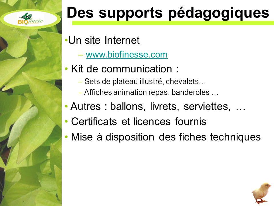 Des supports pédagogiques