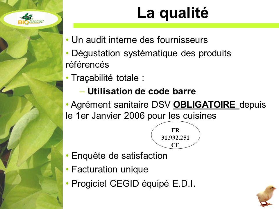 La qualité Un audit interne des fournisseurs