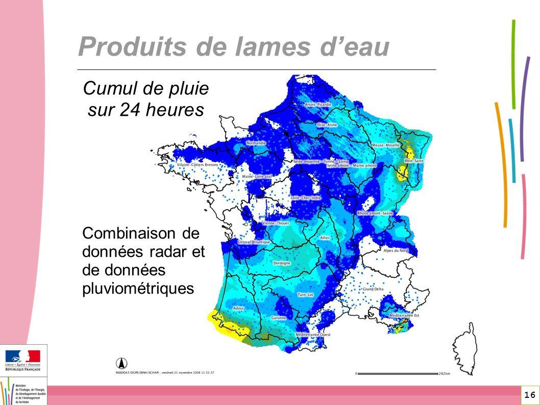 Produits de lames d'eau