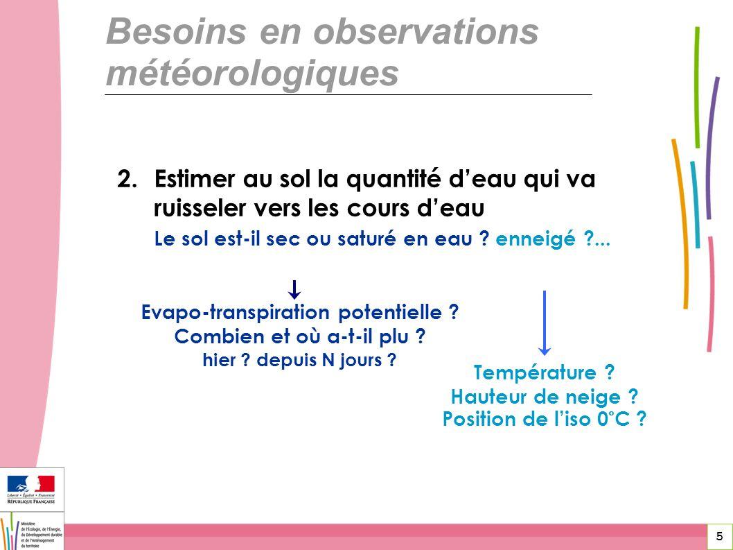Evapo-transpiration potentielle Combien et où a-t-il plu