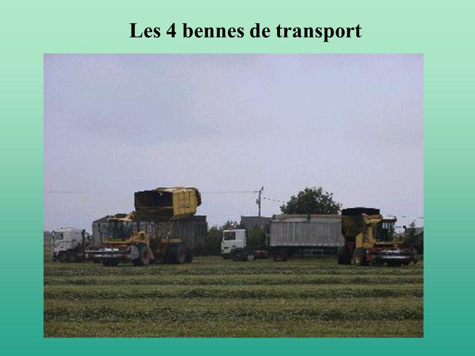 Les 4 bennes de transport