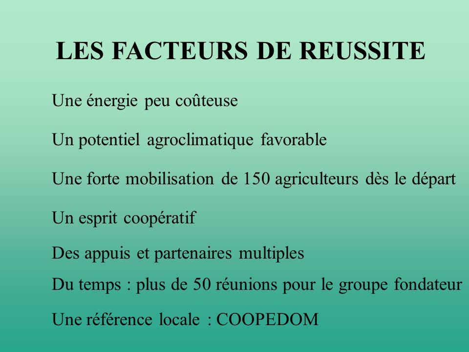 LES FACTEURS DE REUSSITE