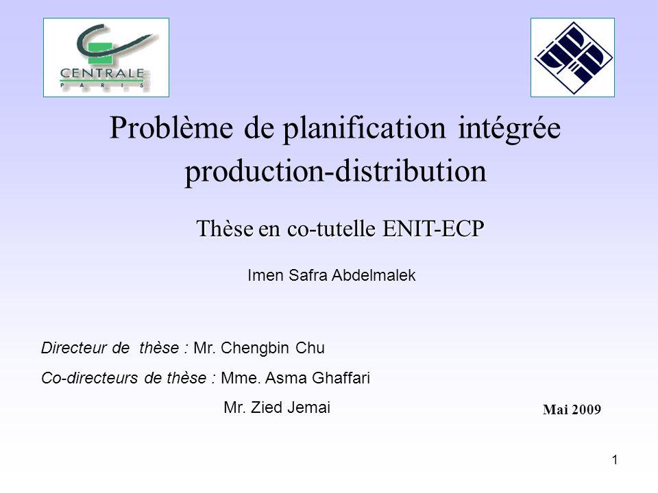 Problème de planification intégrée production-distribution