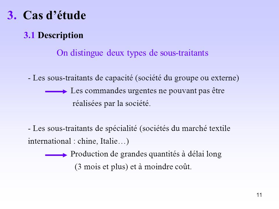 3. Cas d'étude 3.1 Description