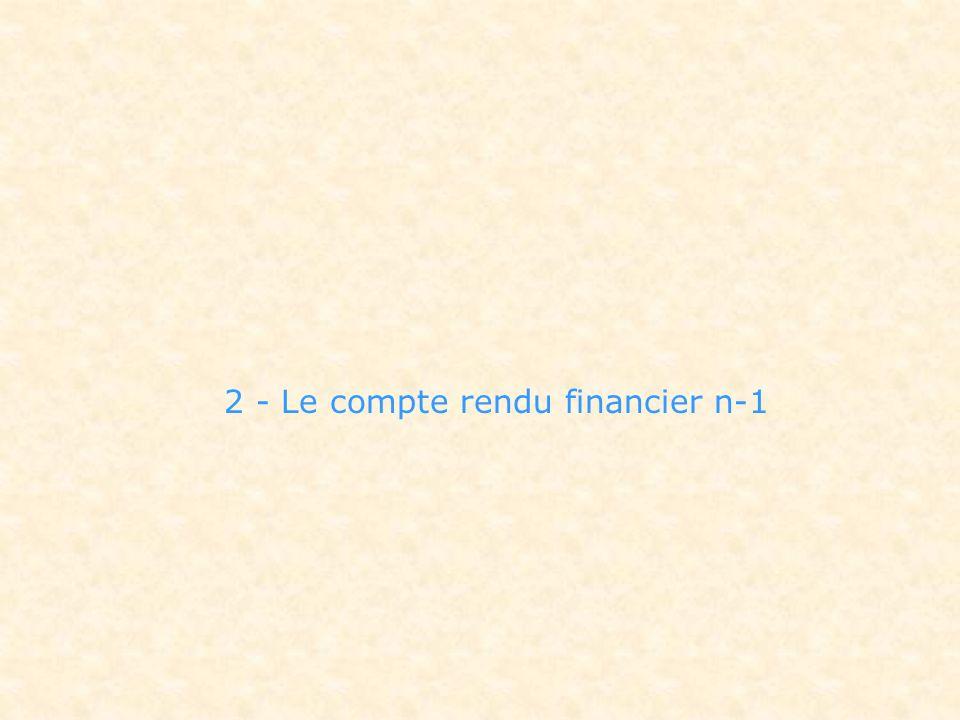 2 - Le compte rendu financier n-1