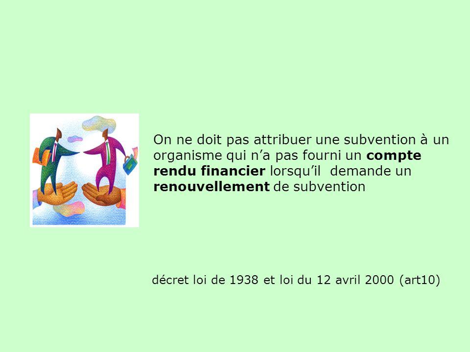 décret loi de 1938 et loi du 12 avril 2000 (art10)