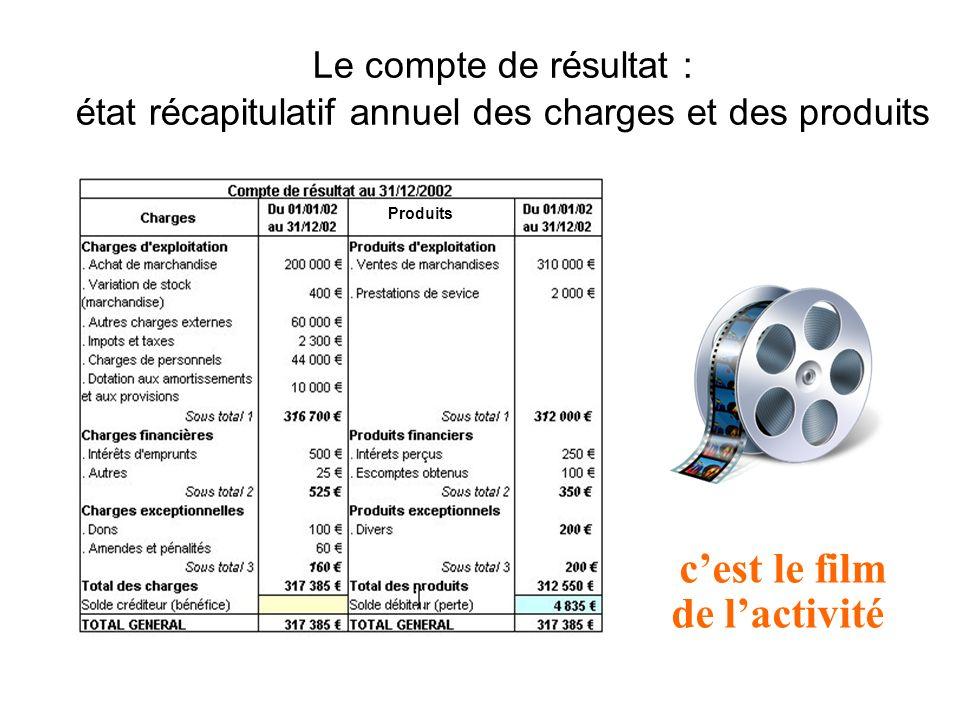 Le compte de résultat : état récapitulatif annuel des charges et des produits