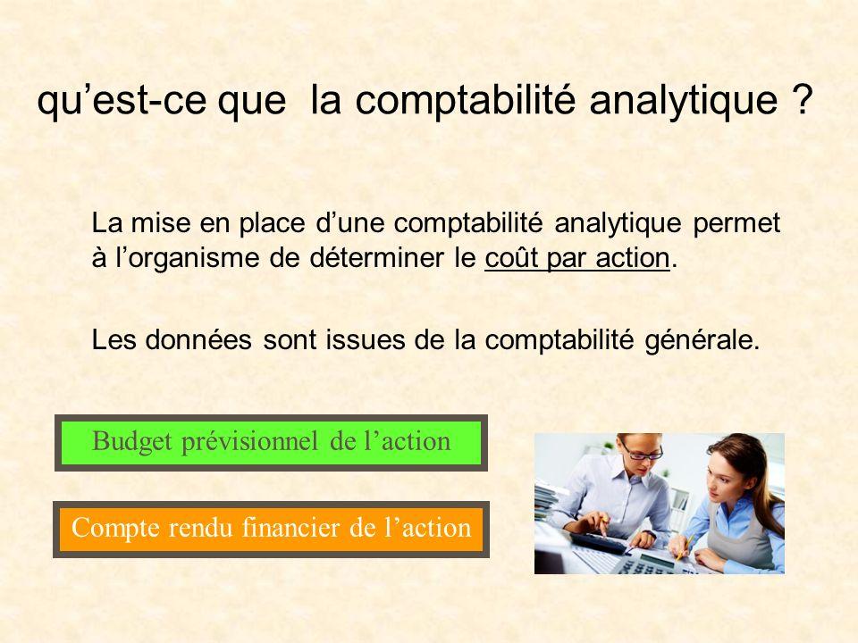 qu'est-ce que la comptabilité analytique