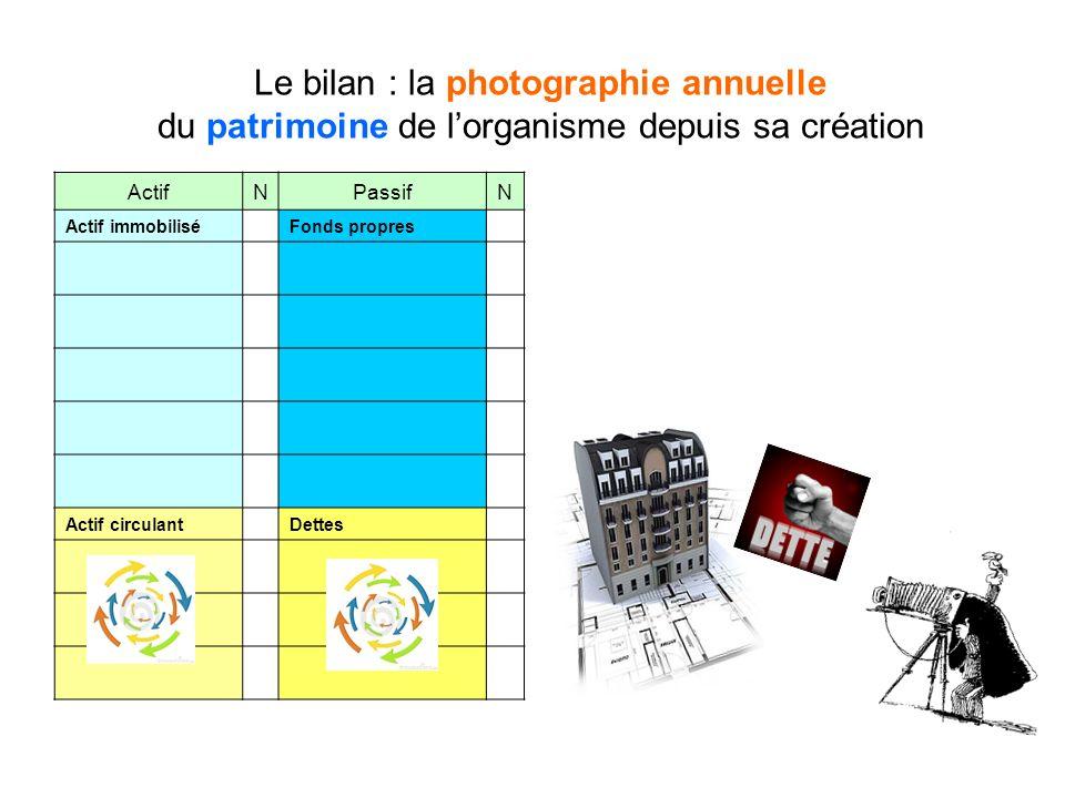 Le bilan : la photographie annuelle du patrimoine de l'organisme depuis sa création