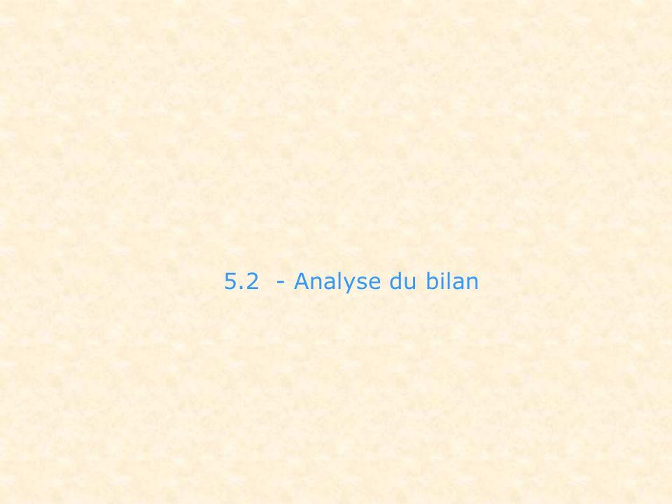 5.2 - Analyse du bilan Le compte rendu financier de n-1 doit servir de base à la lecture du budget de l'action.