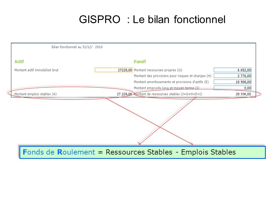 GISPRO : Le bilan fonctionnel