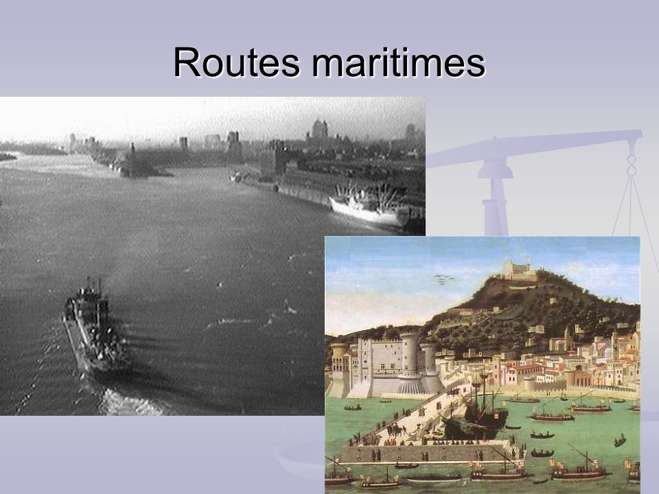 Routes maritimes