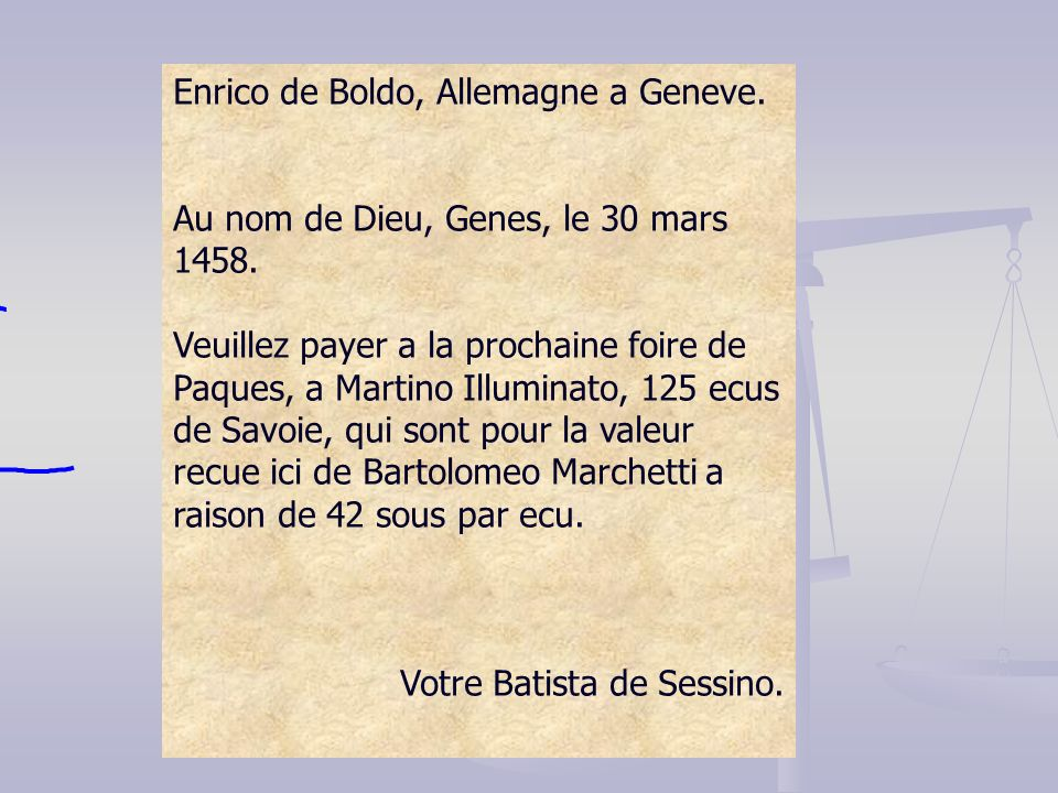 Enrico de Boldo, Allemagne a Geneve.