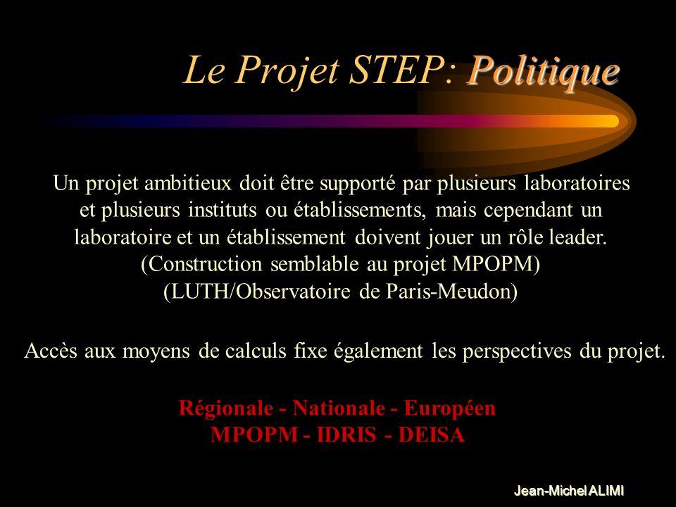 Le Projet STEP: Politique