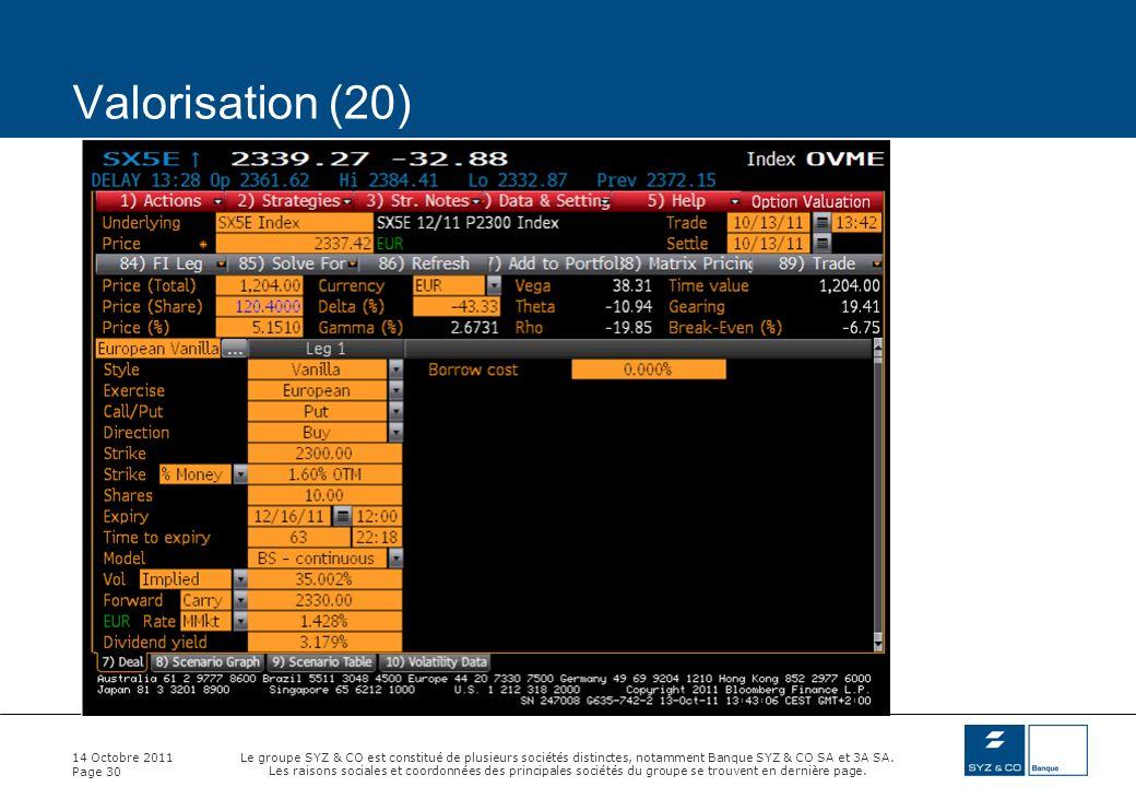 Valorisation (20) 14 Octobre 2011
