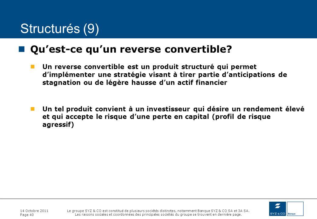 Structurés (9) Qu'est-ce qu'un reverse convertible