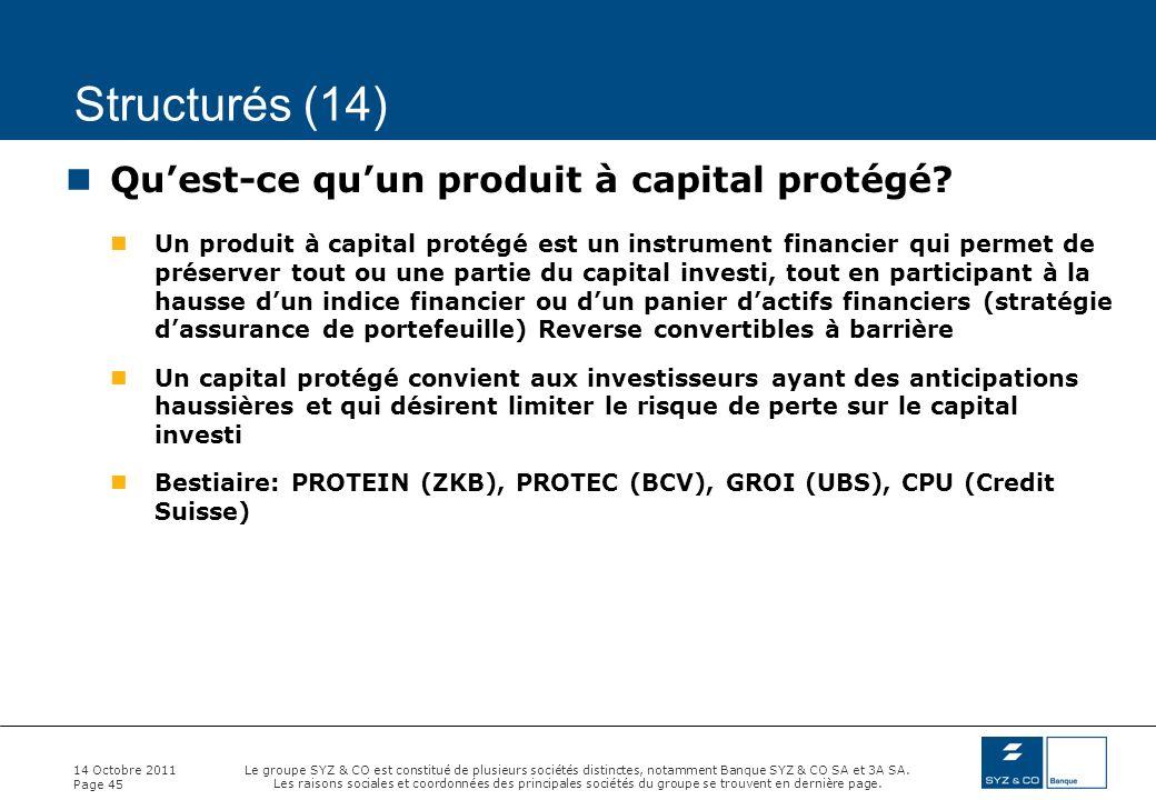 Structurés (14) Qu'est-ce qu'un produit à capital protégé