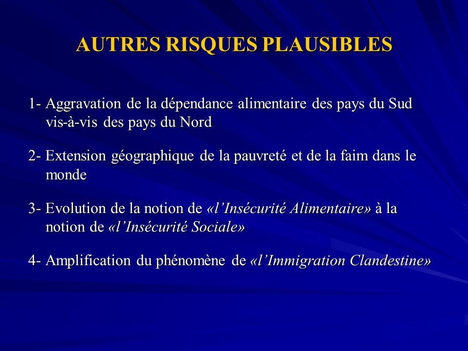 AUTRES RISQUES PLAUSIBLES