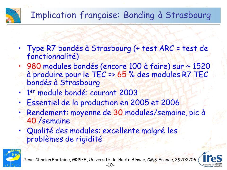 Implication française: Bonding à Strasbourg