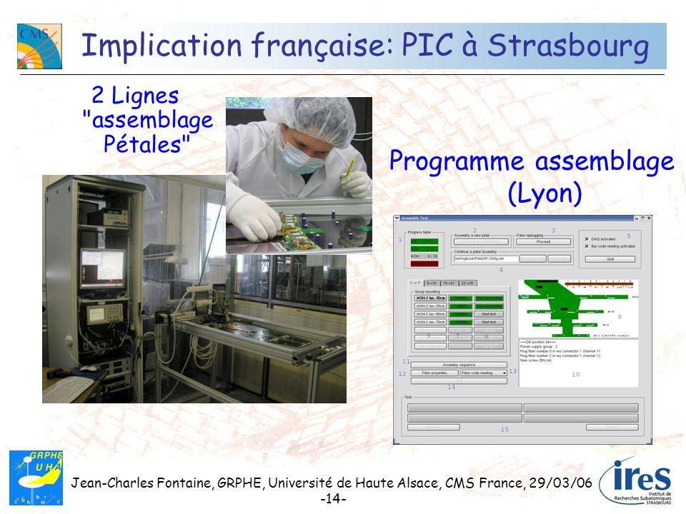 Implication française: PIC à Strasbourg