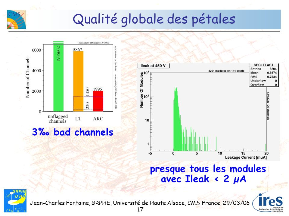 Qualité globale des pétales