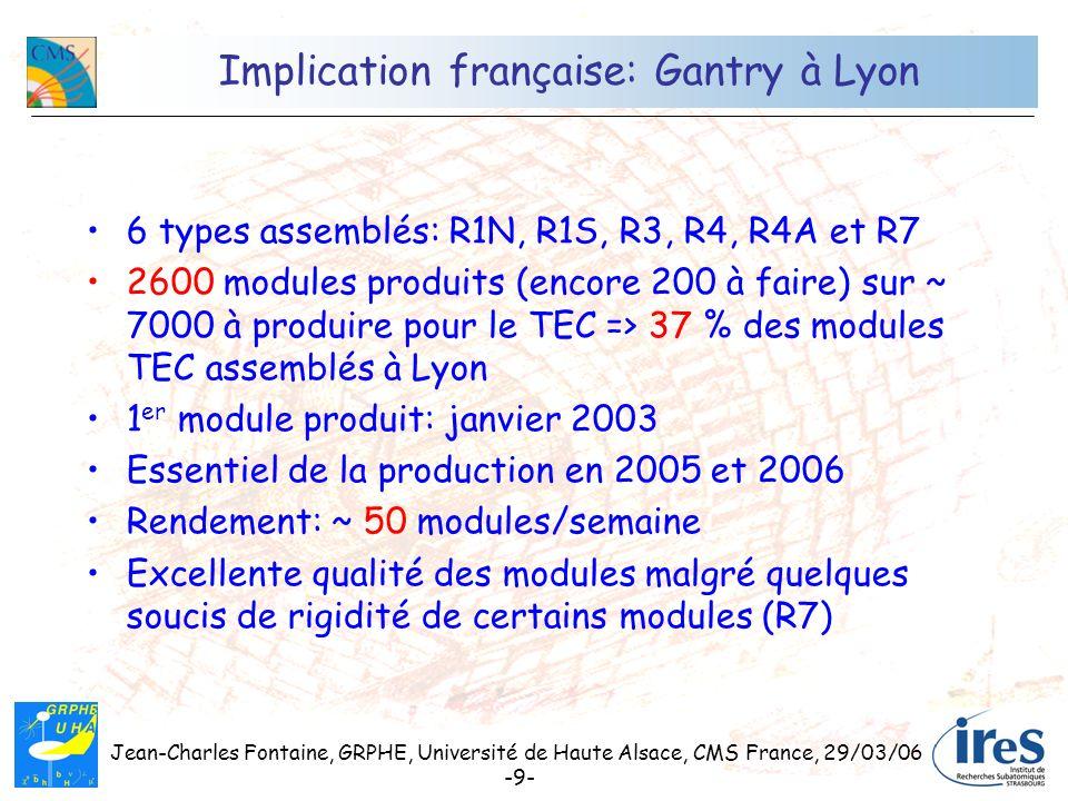 Implication française: Gantry à Lyon