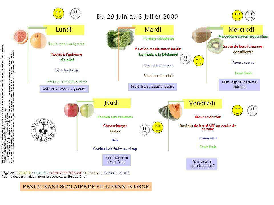 Du 29 juin au 3 juillet 2009 Flan nappé caramel gâteau