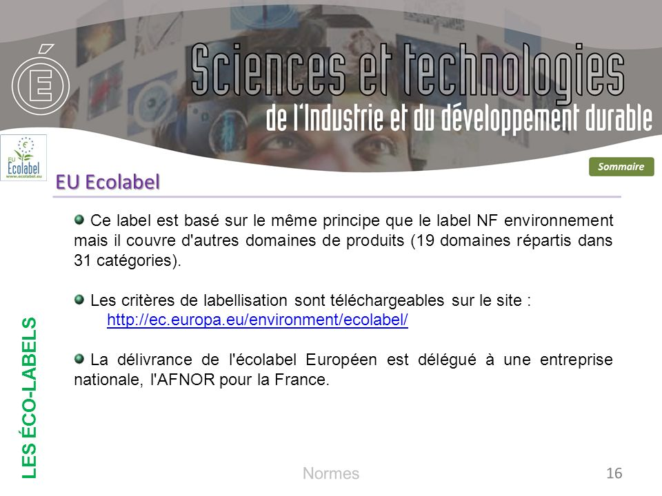 EU Ecolabel LES ÉCO-LABELS
