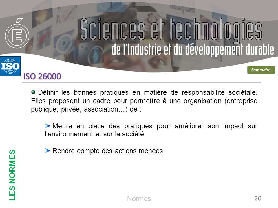 LES NORMES ISO 26000.