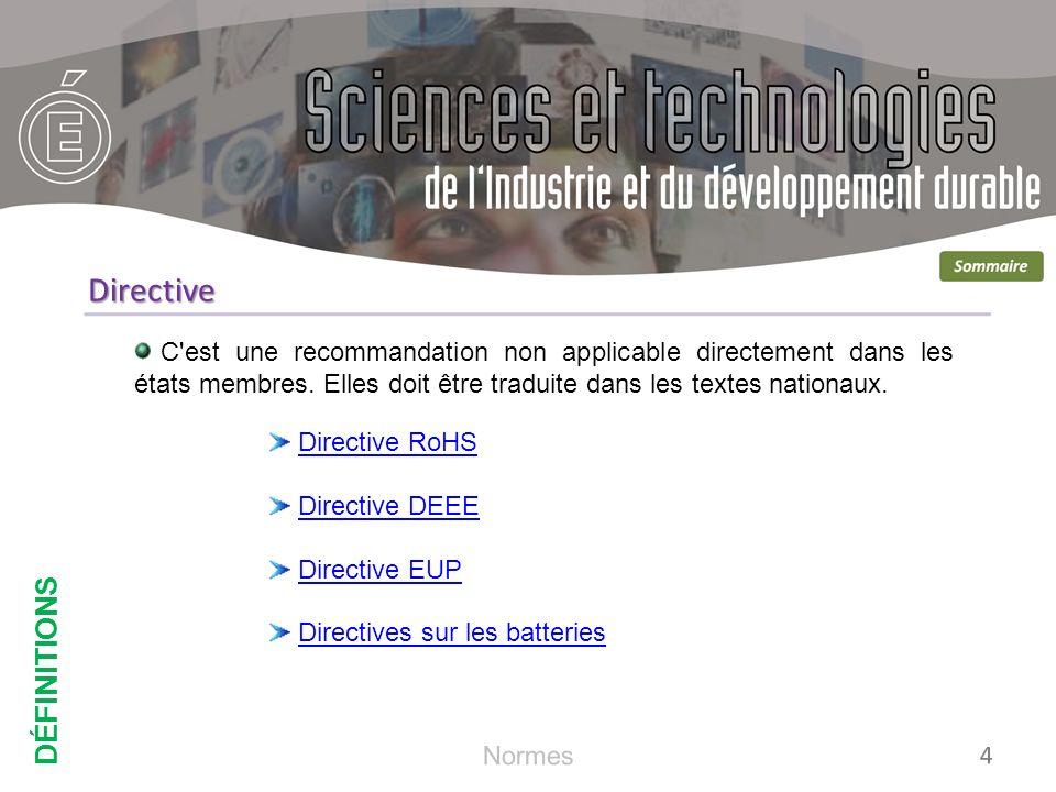 Directive DÉFINITIONS