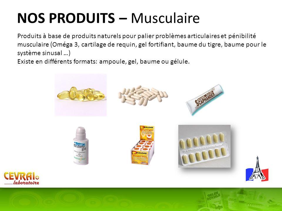 NOS PRODUITS – Musculaire